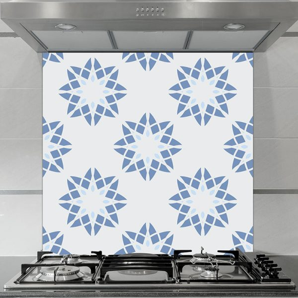 Image of Delen pattern design as a glass printed splashback is all about the cubes and the colour from forthefloorandmore.com