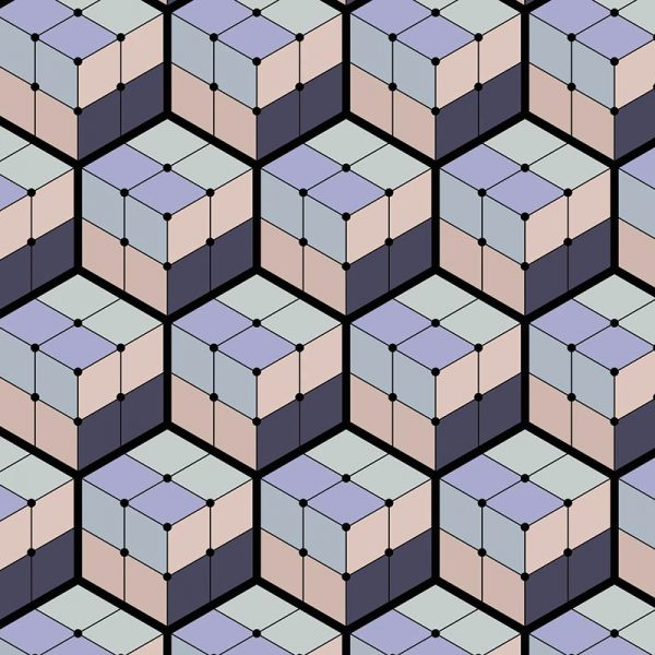 Image of Koko pattern design is all about the cubes and the colour from forthefloorandmore.com
