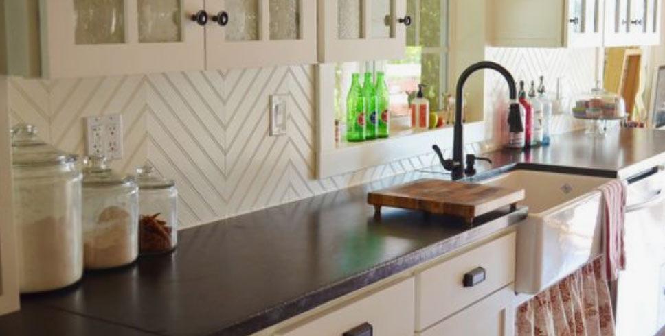 Kitchen Tile Splashback Image For The Floor More