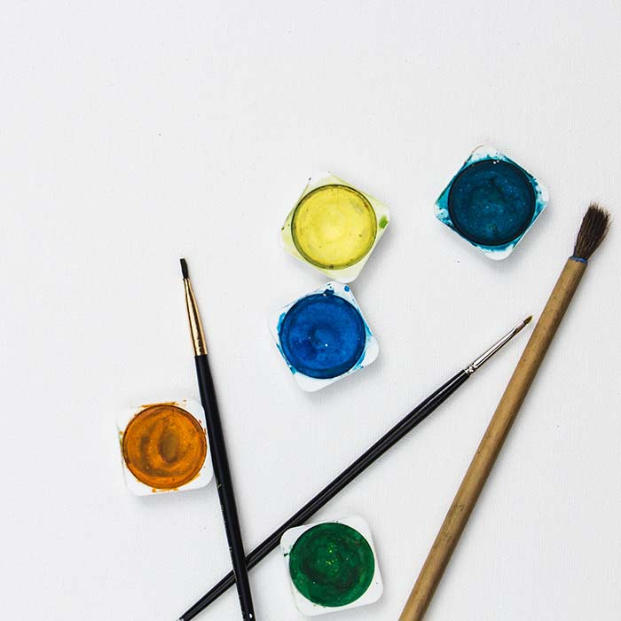 Image showing artist paintbrushes used in a blog post by For the Floor and More