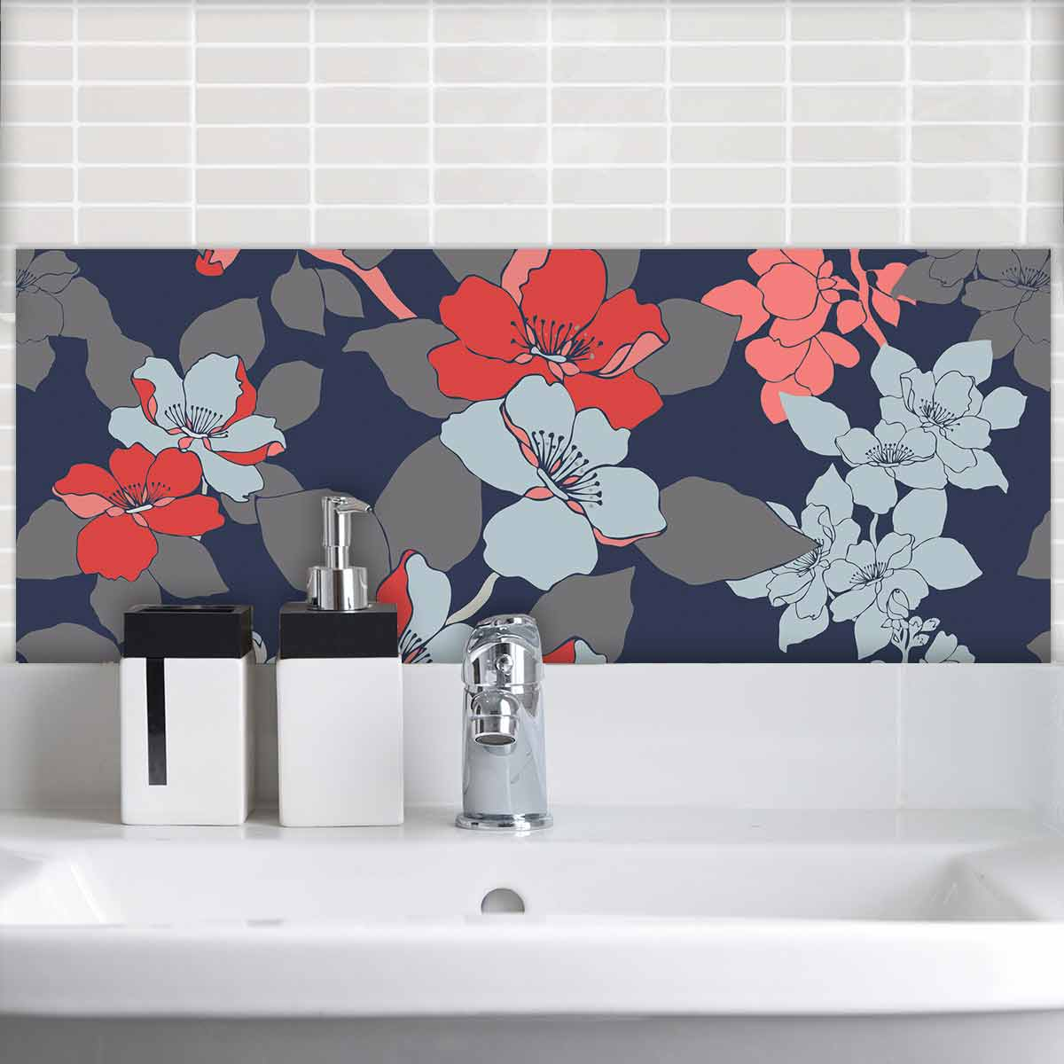 Image of a floral large format feature tile from forthefloorandmore.com
