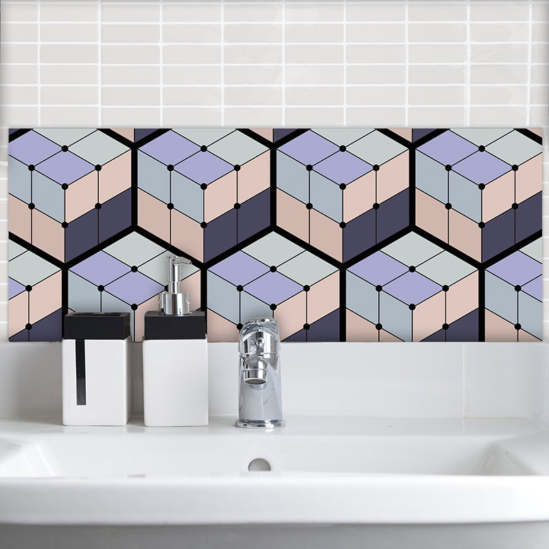 Image of Koko geometric large format feature tiles from forthefloorandmore.com