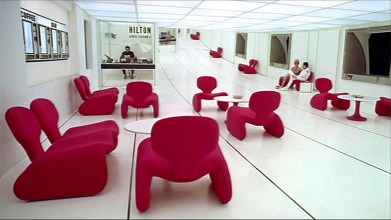 Image of the chairs used in the movie 2001: A Space Odyssey used in a blog post by forthefloorandmore.com