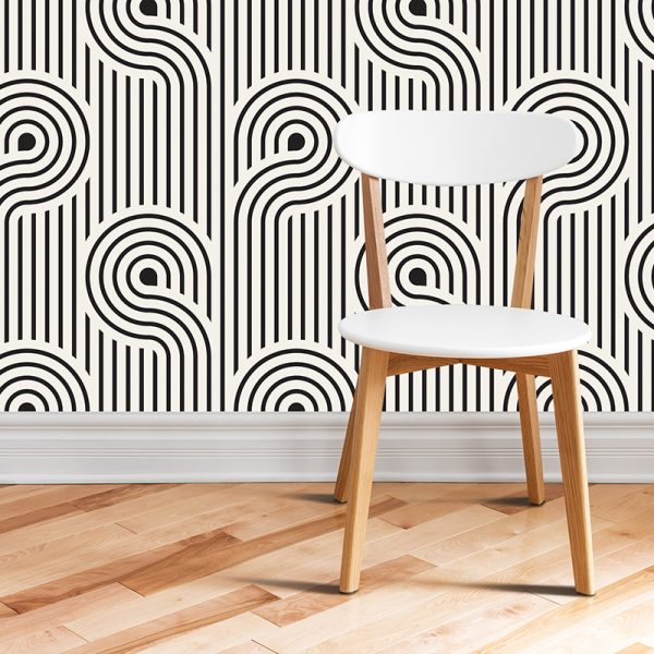 Image of Atik geometric home decor pattern printed as a modern wallpaper design from forthefloorandmore.com