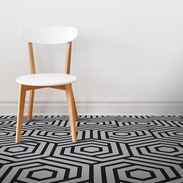 Image of Konkuri designer patterned vinyl flooring available exclusive from forthefloorandmore.com