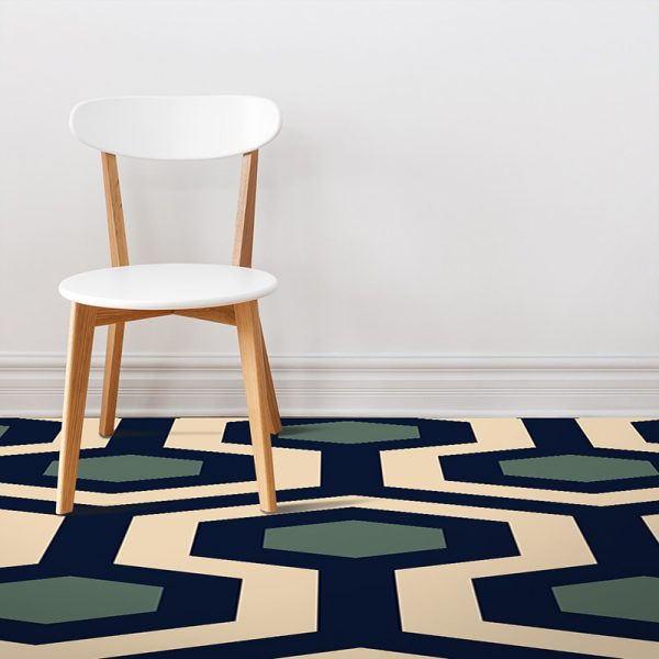 Image showing Anser geometric home decor pattern printed as modern vinyl flooring from forthefloorandmore.com