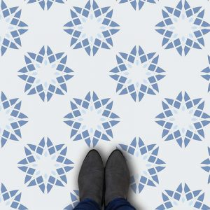 Image of Delen geometric home decor pattern printed as modern vinyl flooring from forthefloorandmore.com