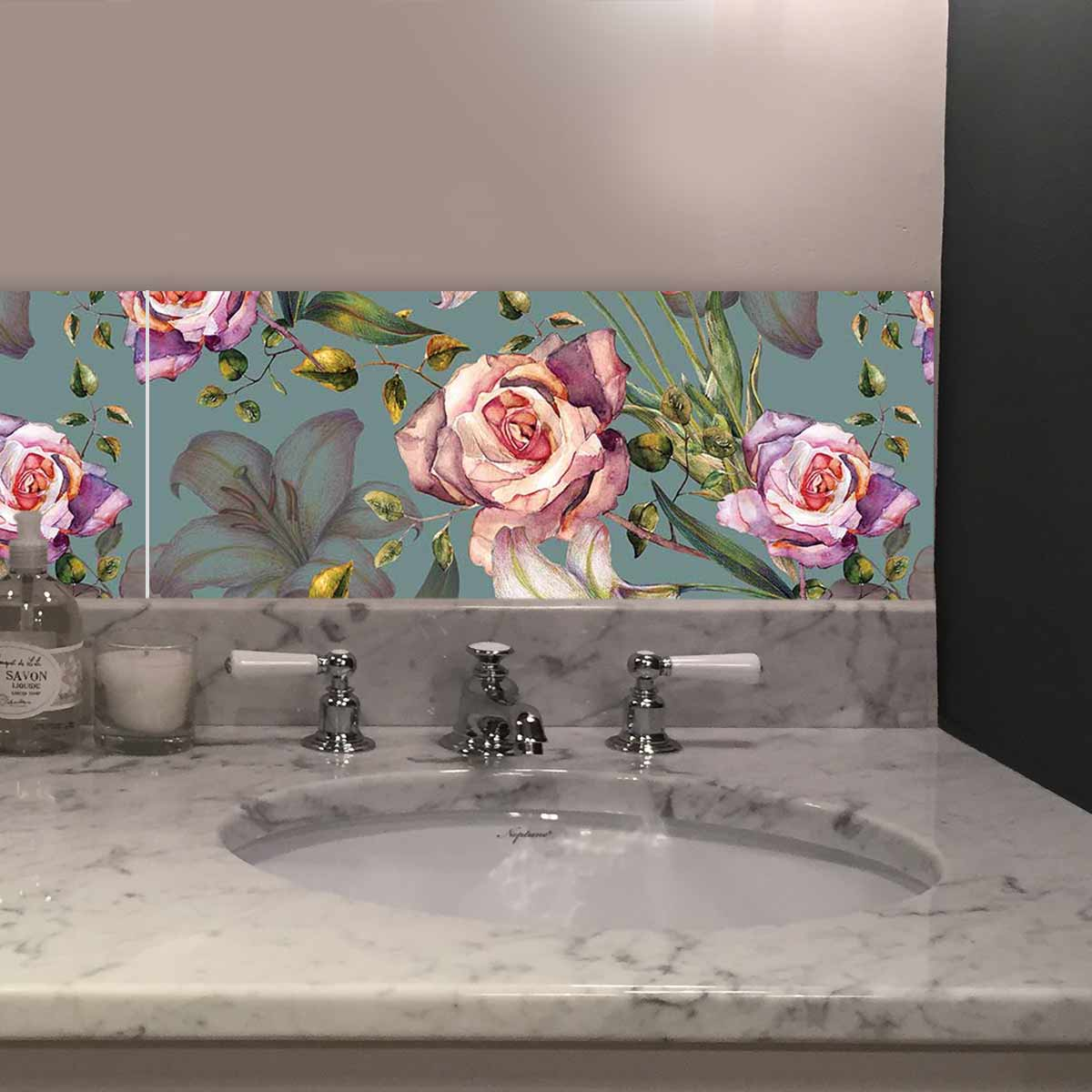 Image of Alida floral large format feature tiles from forthefloorandmore.com