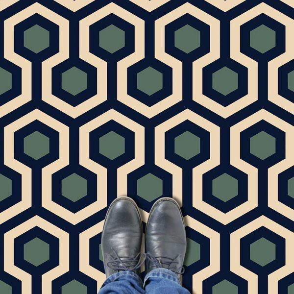 Anser pattern printed geometric flooring exclusively from forthefloorandmore.com