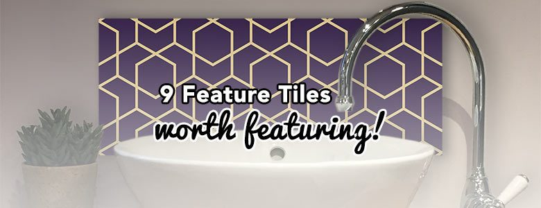 Image for 9 Bathroom Feature Tiles worth featuring! A blog post by forthefloorandmore.com