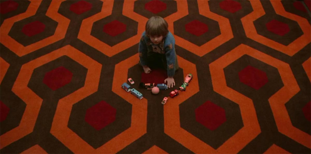 Image of the flooring design from The Shining used in a blog post by forthefloorandmore.com