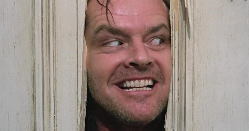 Image showing Jack Nicholson as Jack Torrance in the movie The Shining used in a blog post from Forthefloorandmore.com