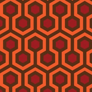 Image of Torrance vinyl flooring pattern inspired by The Shining and the Overlook Hotel from forthefloorandmore.com