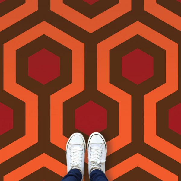 Image of Torrance vinyl flooring inspired by The Shining used in ablog post by forthefloorandmore.com