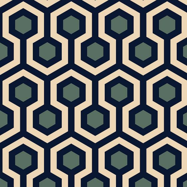 Image of Anser geometric home decor pattern available as a Feature Tile, splashback, wallpaper mural design or vinyl floor covering from forthefloorandmore.com