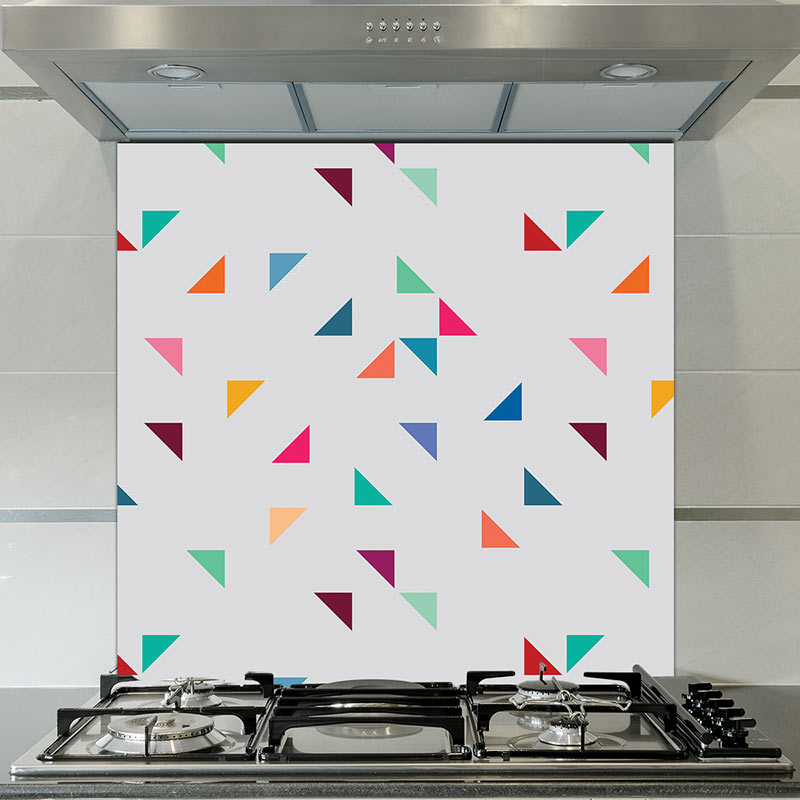 Image of Gaia terrazzo style Italian glass splashback design by forthefloorandmore.com