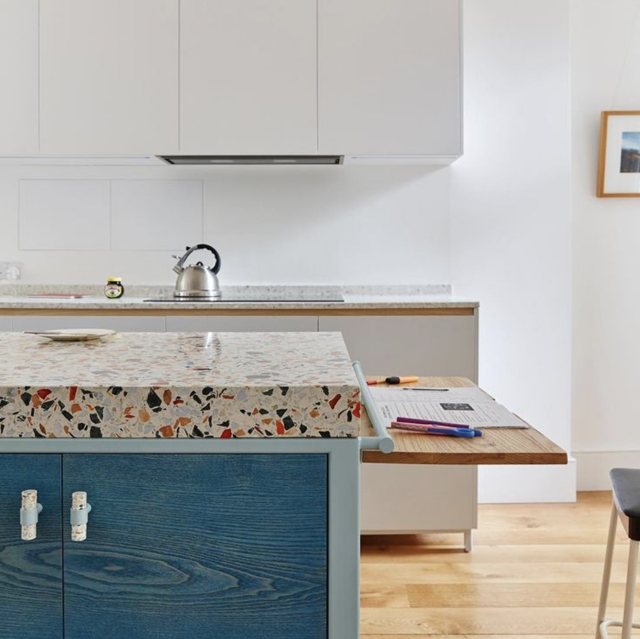 Image of a Terrazzo countertop used in a blog post by forthefloorandmore.com