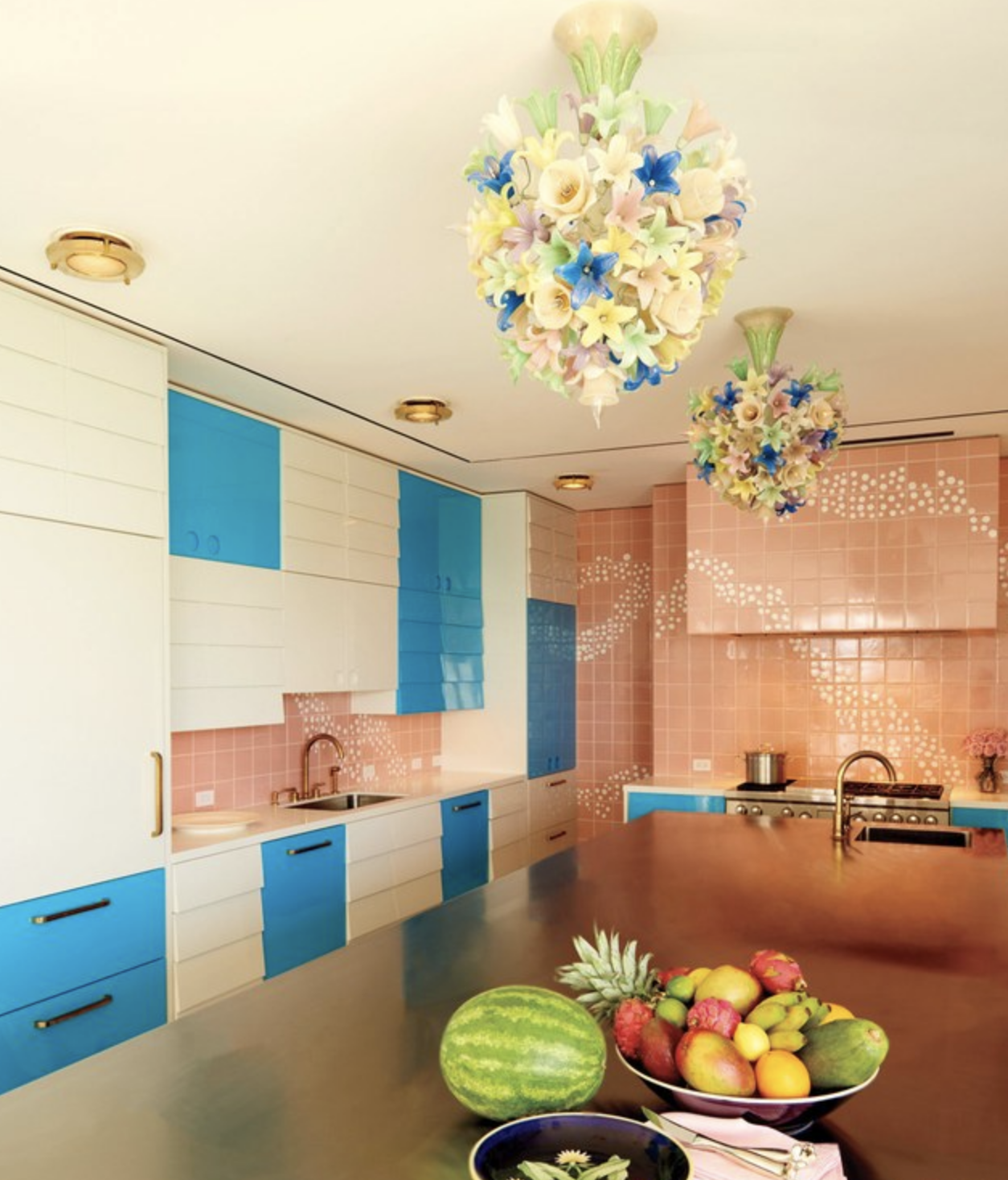 Bright and lively kitchen colour from a blog post by forthefloorandmore.com about kitchen ideas for 2018