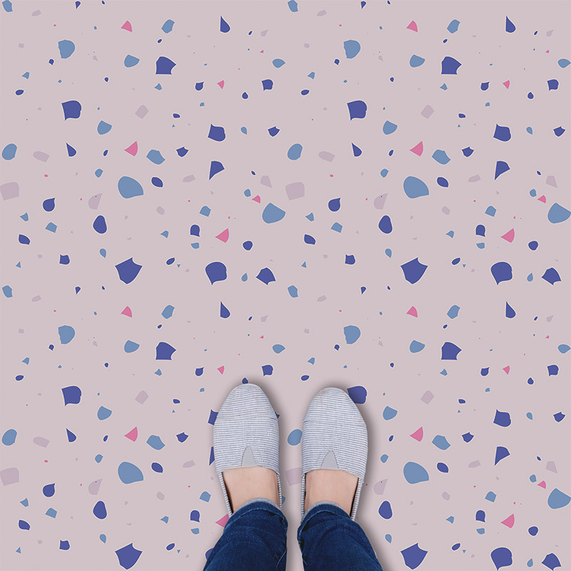 Image of Chiara terrazzo style italian tile vinyl flooring by forthefloorandmore.com