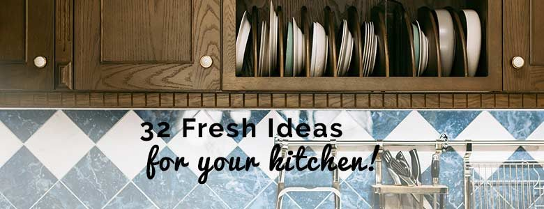 32 Fresh Home Decor Ideas for the Trendiest Kitchen This Season - from forthefloorandmore.com