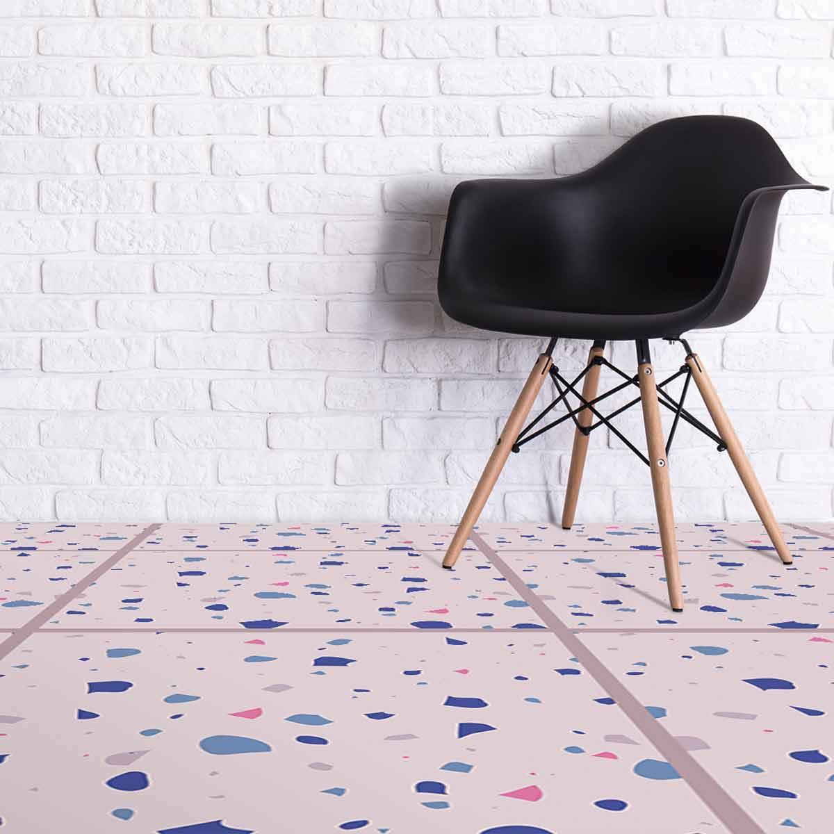 Image showing a room with Chiara Terrazzo style Italian tile vinyl flooring by forthefloorandmore.com