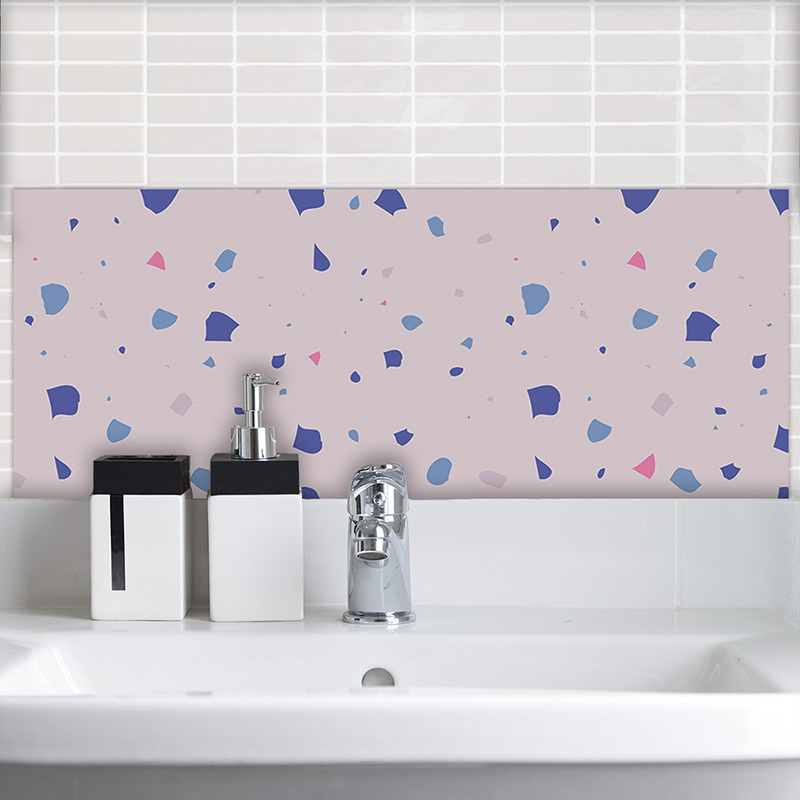 Image of Chiara Terrazzo style Italian tile design printed Feature Tile by forthefloorandmore.com