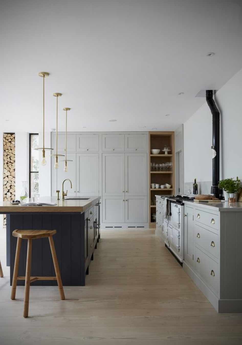 Image of a scandi style minimalist kitchen used in a blog by forthefloorandmore.com