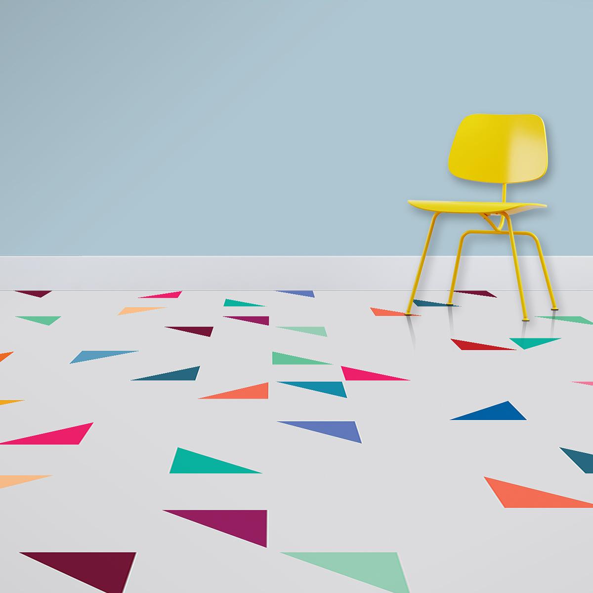 Image of Gaia terrazzo style italian tile vinyl flooring design by forthefloorandmore.com