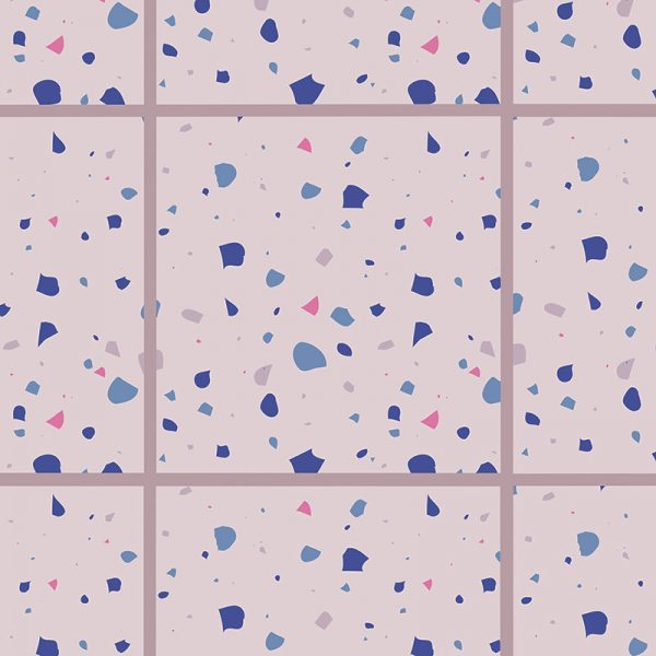 Image of Chiara terrazzo style italian tile design for vinyl flooring, Feature Tiles and glass splashback by forthefloorandmore.com