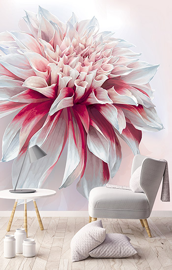Image showing a rose large floral wallpaper murals exclusively from forthefloorandmore.com