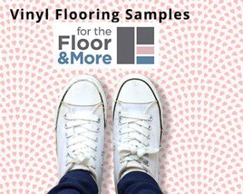 Patterned Vinyl flooring samples from forthefloorandmore.com