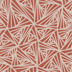Image of Carlla terracotta coloured patterned vinyl flooring design by forthefloorandmore.com