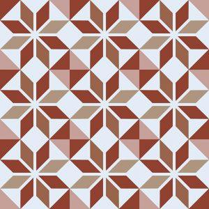 Image of Ealda terracotta coloured patterned vinyl flooring design by forthefloorandmore.com