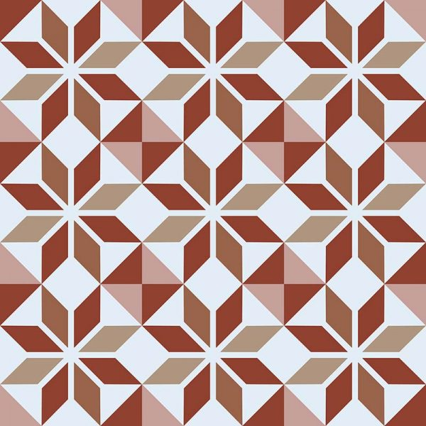 Image of Ealda terracotta coloured patterned vinyl flooring design by forthefloorandmore.com