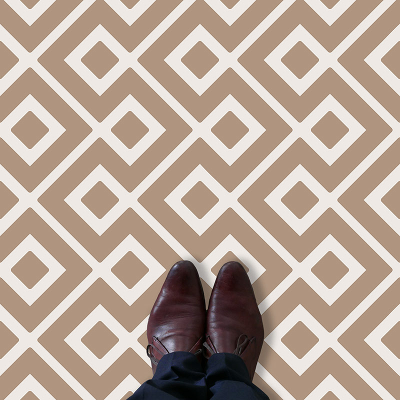 Image of Cecca design terracotta vinyl flooring design by forthefloorandmore.com
