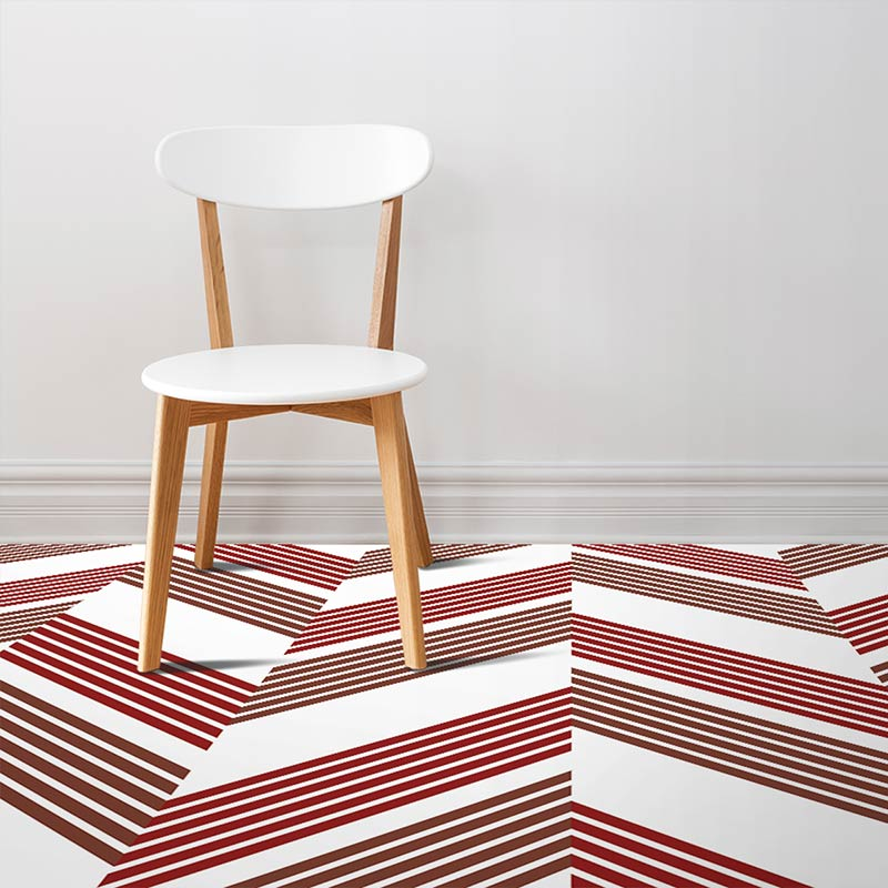 Image of Esta design terracotta vinyl flooring design by forthefloorandmore.com