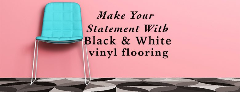 Black and white vinyl flooring from Forthefloorandmore.com