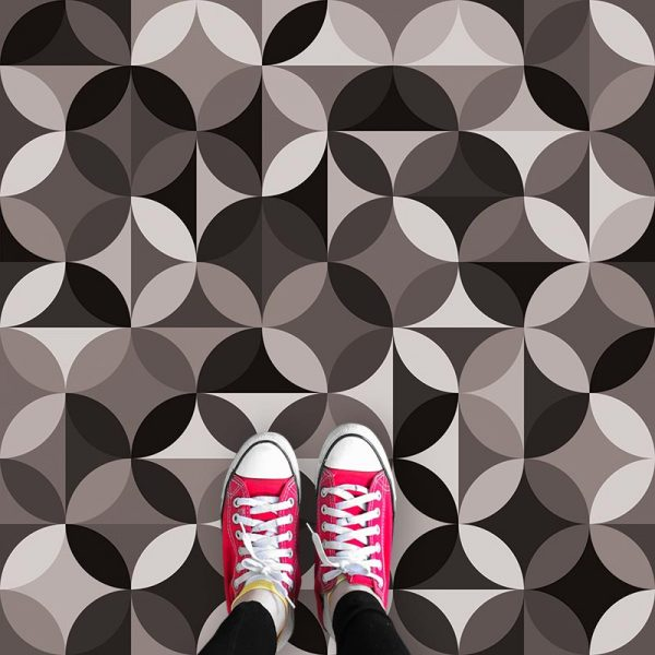 Image of Monton black and white patterned vinyl flooring exclusively from For the Floor and More