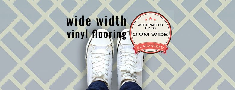 Wide width pattern vinyl flooring available exclusively from For the Floor and More