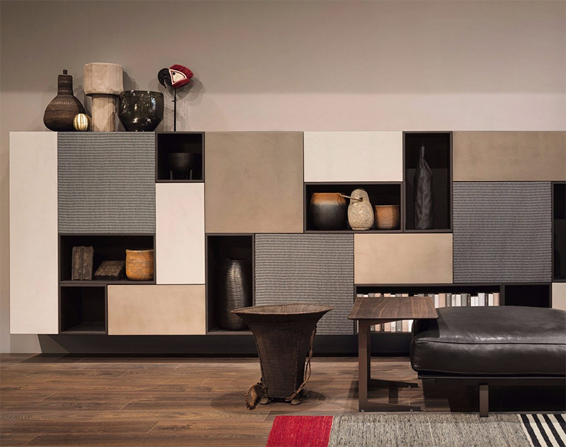 Image of living room cabinets used in a blog post about home decor trends 2019 by forthefloorandmore.com