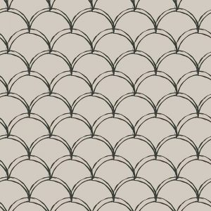 Image of Livia mermaid tile scalloped pattern used in a range of home decor products by For the Floor and More