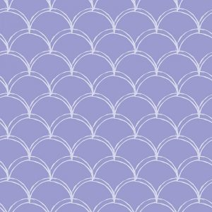 Image of Lovis mermaid tile scalloped pattern used in a range of home decor products by For the Floor and More