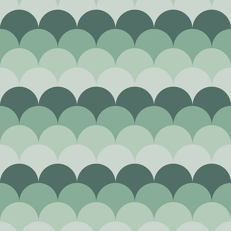 Image of Juni mermaid tile scalloped pattern used in a range of home decor products by For the Floor and More