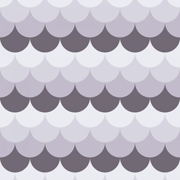 Image of Ines pattern mermaid tile design vinyl flooring