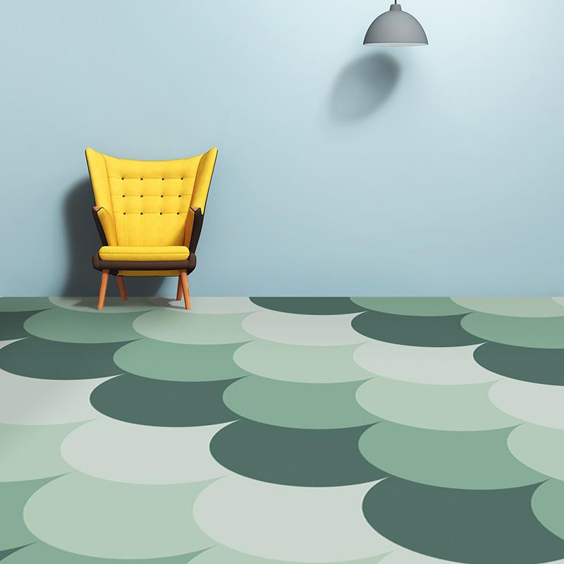 Image of Juni as a mermaid tile pattern printed vinyl flooring by forthefloorandmore.com