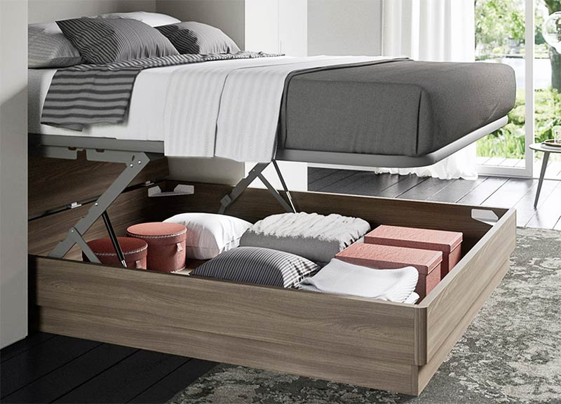 Image of a modern storage bed used in a blog post about home decor trends 2019 by For the Floor and More