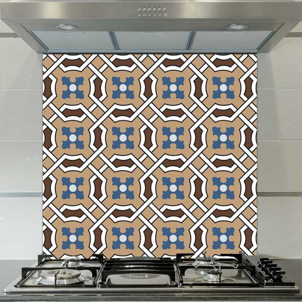 Image of Effie victorian tile design available as a colourful and vibrant printed glass splashback