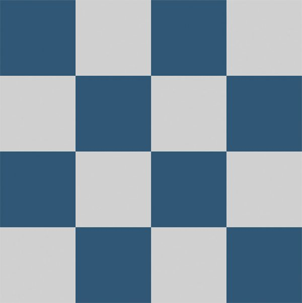 Image of Geo: Chess, our modern take on the classic Victorian checkerboard tile flooring. Any colour, any size, same price. Exclusively from For the Floor & More