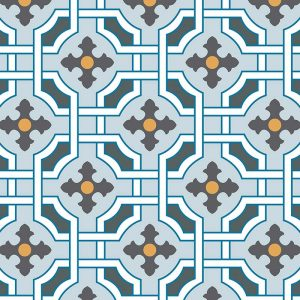 Image of Kittie victorian intricate tile design - oodles of style and impact. A classy interpretation of a distinctive design. Make a real impression with your home decor!
