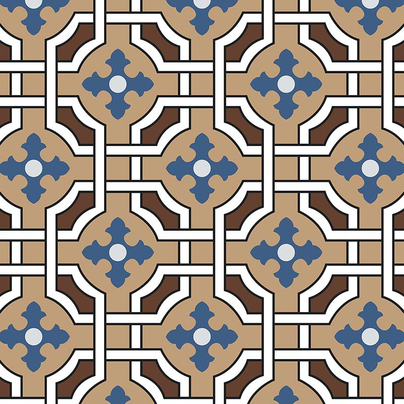 Image of Effie victorian intricate tile design - oodles of style and impact. A classy interpretation of a distinctive design. Make a real impression with your home decor!
